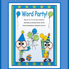 "Preprimer Words  ""Word Party"""