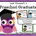 Preschool Graduation Certificates (Owl Theme)
