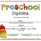 Preschool Graduation Diplomas