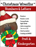 Preschool & Kindergarten Christmas Wreaths Numbers and Let