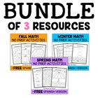 Preschool &amp; Kindergarten Common Core Math Pack Bundle for 
