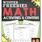 Preschool & Kindergarten Common Core Math FREEBIE - Winter