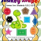 Preschool Kindergarten Math Center Snakey Shapes