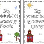 Preschool Memory Book