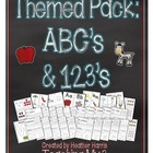 Preschool Pack 1: ABCs & 123s