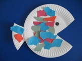 Preschool Paper Plate Fish Project