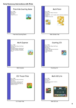 Presentation-Early Numeracy Interventions Using iPad Apps Handout