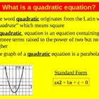 Presentation on Factoring, Discriminant and Quadratic Formula