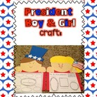 President Boy & Girl Craft