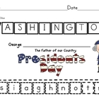 President Washington Cut & Paste Upper/Lowercase ID