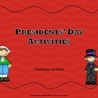 Presidential Activities for Presidents&#039; Day