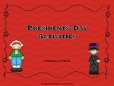 Presidential Activities for Presidents' Day