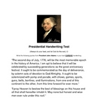 Presidential Handwriting Test- John Adams