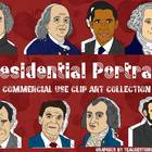 Presidential Portraits Clip Art Collection-8 Famous Americ