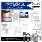 Presidential Printables Pack { celebrate Washington & Linc