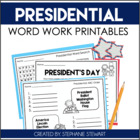 Presidential Word Work