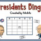 Presidents Bingo-Presidents Themed Bingo Game