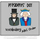 ABC Order - Presidents' Day Theme