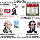 President's Day Booklets - ENGLISH