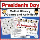 Presidents Day Common Core Mini Pack Math &amp; Literacy