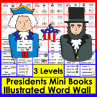 Presidents' Day Emergent Readers and Harder-3 Reading Leve