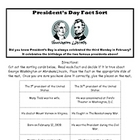 President&#039;s Day Fact Sort