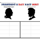 President's Day Fact sort cut and paste