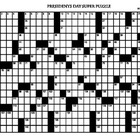 Presidents Day Jumbo Crossword 27 X 17