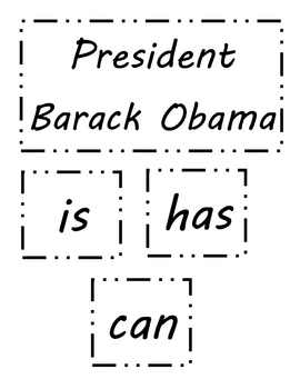 Presidents Day - Labels for Writing Tree Map