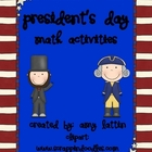 President&#039;s Day Math Activities - Common Core Standards