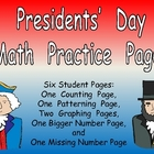 Presidents' Day Math Activities for Kindergarten