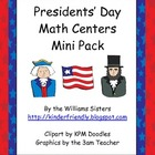 Presidents&#039; Day Math Centers Mini Pack