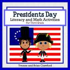 Presidents Day Math and Literacy Activities Third Grade Co