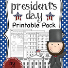 President&#039;s Day Math and Literacy Printable Pack