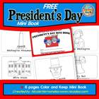 President's Day Mini Book- Color 'n Keep