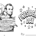 President&#039;s Day Mini Book Washington, Lincoln, Obama, and 