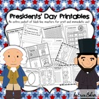 Presidents' Day Printables: Black-line Masters for Immedia