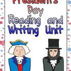 Presidents Day Reading and Writing Unit for Kindergarten o