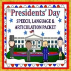President&#039;s Day Speech &amp; Language Packet + Free pages!