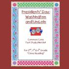 Presidents' Day Text Unit – Lincoln and Washington Bios /