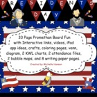 President's Day Unit with Interactive Activities for Prome