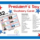 President's Day Vocabulary {32 Cards}