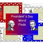 Presidents' Day Word Find SMARTBoard and PDF Word Find
