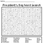 President's Day Wordsearch Puzzle