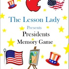 Presidents Memory Game - Use for President&#039;s Day or Year Round!