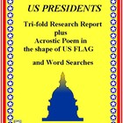 Presidents of the US: Tri-fold Research Matrix and Word Searches