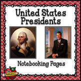 Presidents of the United States of America Notebooking Pages