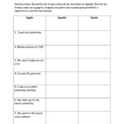 Preterite versus imperfect sentence matching game and worksheet