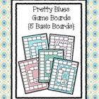 Pretty Blues Game Boards