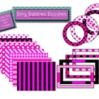 Pretty Pink Digital Papers and Frames